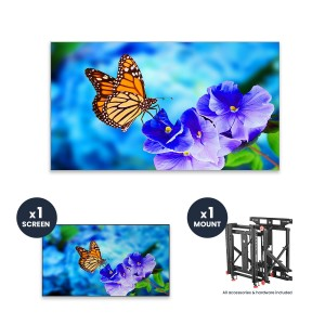 "NEC UN552VS + DS-VW775-QR 1x1 Kit | 55"" Ultra-Narrow Bezel Professional-Grade Display with Peerless Full Service Mount"