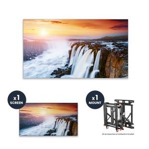 "Samsung VH55R-R + DSVW775-QR 1x1 KIT | 55"" VHR-R Series Ultra-Narrow .88mm BtB 700 nit Videowall Display with Peerless Full Service Mount"
