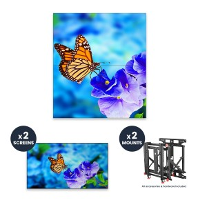 "NEC UN552VS + DS-VW775-QR 1x2 Kit | 55"" Ultra-Narrow Bezel Professional-Grade Display with Peerless Full Service Mount"