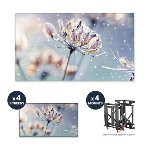 "Samsung VM46R-U + DSVW775-QR 2x2 KIT | 46"" VMR-U Series 3.5mm Videowall Display with Peerless Full Service Mount"