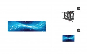 "Samsung UM55H-E + DS-VW775-QR 1x2 Kit | UMH-E Series 55"" Thin Bezel Video Wall Display with Peerless Full Service Mount"