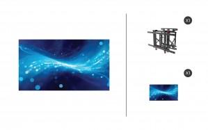 "Samsung UM55H-E + DS-VW775-QR 1x1 Kit   UMH-E Series 55"" Thin Bezel Video Wall Display with Peerless Full Service Mount"