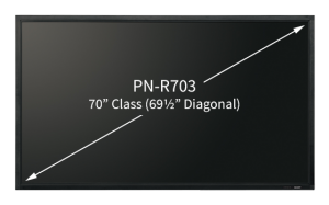 Sharp Electronics PN-R706 Professional LED Display