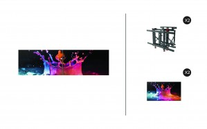 "Samsung UD46E-B + DSVW775-QR 1x2 KIT | UD-E-B Series 46"" Premium Video Wall Display with Peerless Full Service Mount"