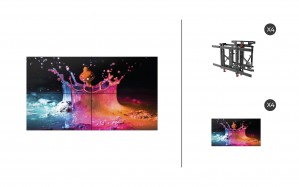 "Samsung UD55E-B + DS-VW775-QR 2x2 Kit | UD-E-B Series 55"" Direct-Lit LED Advanced Video Wall Display with Peerless Full Service Mount"