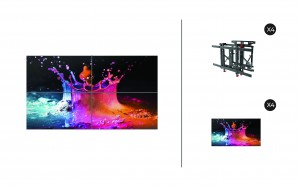 "Samsung UD46E-B + DSVW775-QR 2x2 KIT | UD-E-B Series 46"" Premium Video Wall Display with Peerless Full Service Mount"
