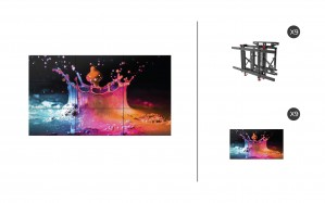 "Samsung UD55E-B + DS-VW775-QR 3x3 Kit | UD-E-B Series 55"" Direct-Lit LED Advanced Video Wall Display with Peerless Full Service Mount"