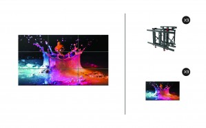 "Samsung UD46E-B + DSVW775-QR 3x3 KIT | UD-E-B Series 46"" Premium Video Wall Display with Peerless Full Service Mount"
