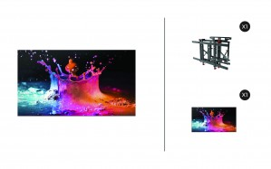 "Samsung UD46E-B + DSVW775-QR 1x1 KIT | UD-E-B Series 46"" Premium Video Wall Display with Peerless Full Service Mount"