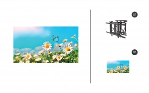 "NEC UN462A + DS-VW775-QR 1x1 Kit | 46"" Ultra-Narrow Bezel Professional-Grade Display with Peerless Full Service Mount"