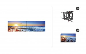 "NEC UN551S + DS-VW775-QR 1x1 Kit | 55"" Ultra-Narrow Bezel UN Series S-IPS Video Wall Display with Peerless Full Service Mount"