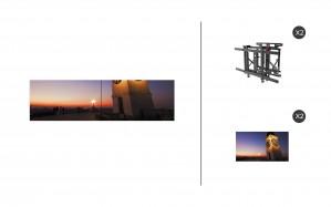 "NEC UN551VS + DS-VW775-QR 1x2 Kit | 55"" Ultra-Narrow Bezel UN Series S-IPS Video Wall Display with Peerless Full Service Mount"