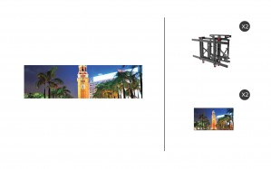 "NEC X555UNS + DS-VW775-QR 1x2 Kit | 55"" Ultra Narrow 3.5mm / 700nit Bezel Video Wall Display"