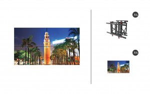 "NEC X555UNS + DS-VW775-QR 2x2 Kit | 55"" Ultra Narrow Bezel S-IPS Video Wall Display with Peerless Full Service Mount"