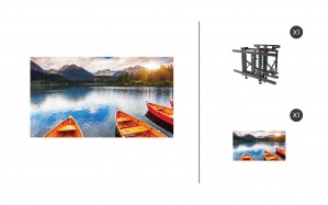 "NEC X555UNV + DS-VW775-QR 1x1 Kit | 55"" Ultra Narrow Bezel S-IPS Video Wall Display with Peerless Full Service Mount"
