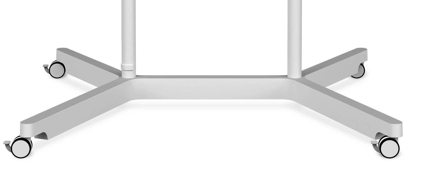 An image showing the magnified bottom section of a Samsung Flip device, with four wheels that move from left to right.